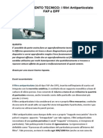 Corso Tecnico Completo Sui Fap e Dpf Luglio2013