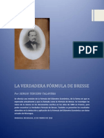 La Verdadera Fórmula de Bresse 15.02.2014