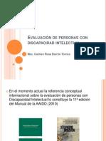 Evaluacion de Personas Con Discapacidad Intelectual Lic. Carmen Barron