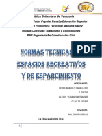 TRABAJO de Normas Técnicas en Espacios Recreativos y de Esparcimiento