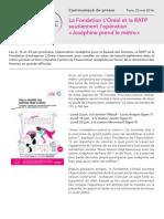 Cp Ratp Josephine Prend Le Metro.22 Mai 2014 PDF