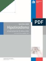 hipotiroidismo MINSAL 2013
