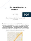 Sound Barrier Proposal for Arch Hill April 2014