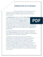 Informe de Faringitis