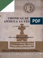 Mencos Franco - Cronicas de La Antigua Guatemala