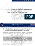 17 Reasons Why Football is Better for Learning