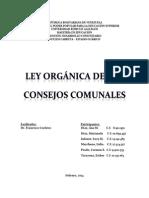 Trabajo Ley de Los Consejos Comunales