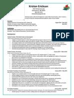 erickson kristen resume and writingprompt