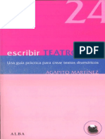 Agapito Martinez. Escribir Teatro