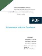 Actividades de La Gestion Tecnologiaca