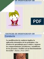 Tecnicas de Modificación de Conducta.