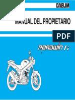Manual Daelim Roadwin 125 Fi