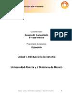 Unidad 1. Introduccion a La Economia