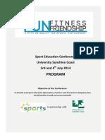 Sport ED Conference Program (Final)