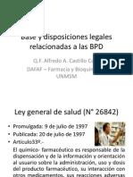 2. Dr. Castillo Calle - Base y Disposiciones Legales Relacionadas a Las Bpd - Dr. Alfredo Castill