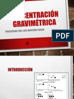 CONCENTRACION GRAVIMETRICA
