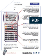 Casio Cheat Sheet