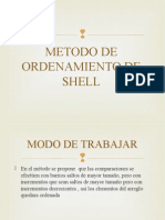 Metodo de Ordenamiento de Shell