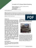 3. Penumbuhan Nano-katalis Co-Fe Dengan Metode Sputtering