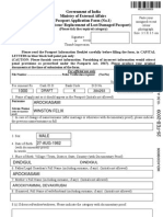 Government of India Ministry of External Affairs Passport Application Form