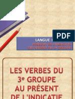 Verbes du 3e groupe au présent de l'Indicatif PDF (FR)