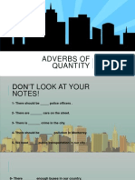 Adverbs of Quantity Exercises