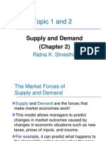 Topic 1 and 2 Demand Supply