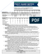 5.25.2014 Post-Game Notes