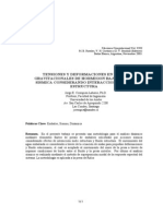TENSIONES Y DEFORMACIONES EN PRESAS GRAVITACIONALES DE HORMIGON BAJO ACCION SISMICA CONSIDERANDO INTERACCION FLUIDO ESTRUCTURA