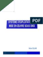 Système d'Exploitation Et Mise en Oeuvre UNIX2014