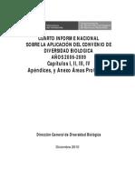 Informe de Nacional Sobre La Diversidad Biológica en El Perú.