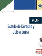 Estado de Derecho y Juicio Justo.