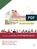 Guide d'utilisation portail des auto-entrepreneurs