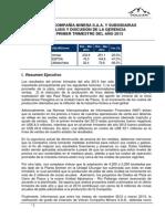 2013 1T Analisis de La Gerencia