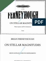 Ferneyhough - On Stellar Magnitudes