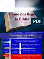 Cc3b3mo Nos Llegc3b3 La Biblia