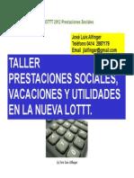 Derecho Laboral Prestaciones Sociales