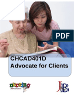 CHCAD401D Advocate for Clients