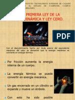 Tema 4.4. - Ley Cero y Primera Ley de La Termodinamica