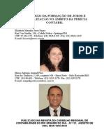 Discussão Da Formação de Juros e Capitalização No Âmbito Da Perícia Contábil