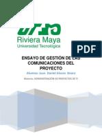 Ensayo de Gestión de Las Comunicaciones Del Proyecto