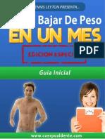 Cómo Bajar de Peso en Un Mes Descargar Libro PDF