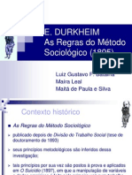 Durkheim as Regras Do Método Sociológico