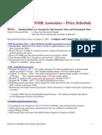 Process NMR Associates Price Schedule 11-01