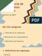 ABNT- referência de documentos jurídicos
