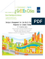 Design & Management for the Built Environment in Response to Climate Change