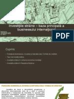 Investiţiile Străine - Baza Principală a Businessului Internaţional Cavcaliuc.vacarciuc