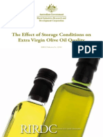 Olive Oil Storage Conditions