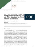 Siegfried KRACAUER, Théorie Du Film