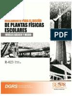 R-023 Reglamento Plantas Fisicas Escolares